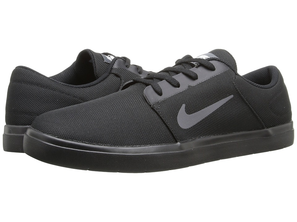 Nike SB - Portmore Ultralight Canvas (Black/Dark Grey/White) Men's Skate Shoes