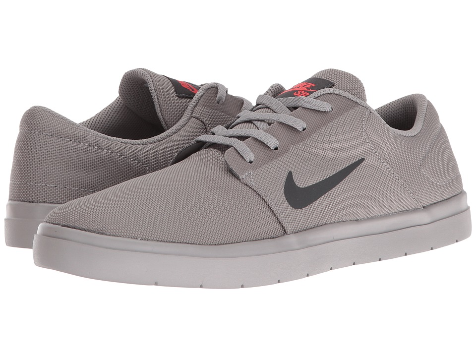 Nike SB - Portmore Ultralight Canvas (Dust/Anthracite/Ember Glow) Men's Skate Shoes
