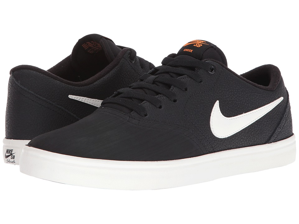 Nike SB Check Solar Premium (Black/Ivory/Clay Orange) Men