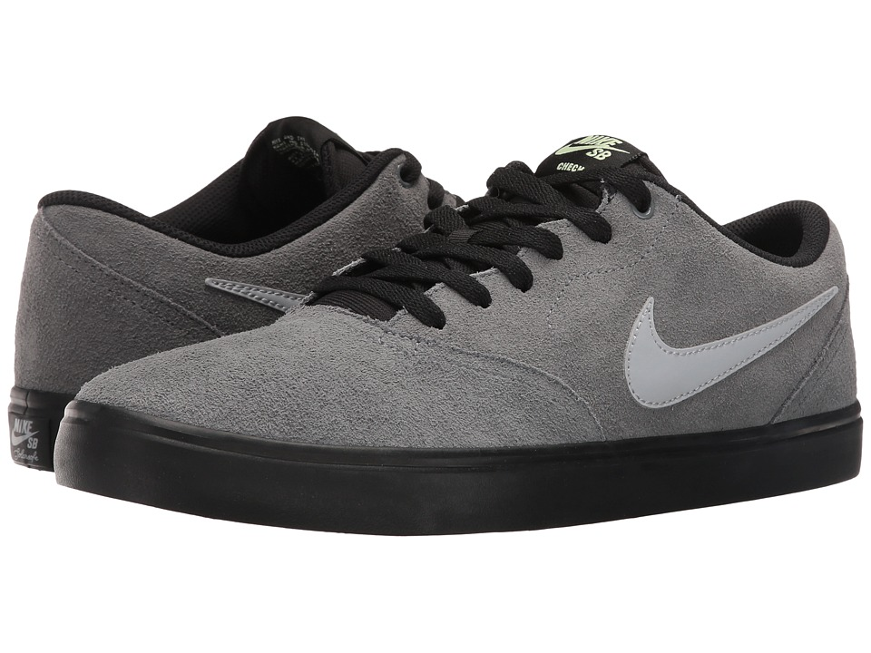 Nike SB - Check Solar Suede (Cool Grey/Wolf Grey/Black) Men's Skate Shoes