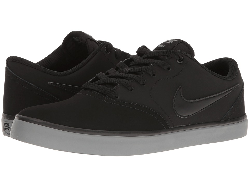 Nike SB - Check Solar NB (Black/Black/Cool Grey) Men's Skate Shoes