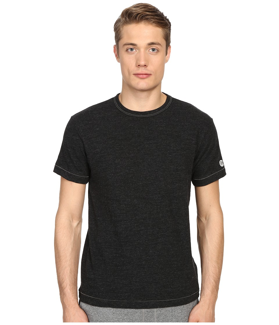 Todd Snyder + Champion - Heathered Basic Tee (Black Mix) Men's T Shirt