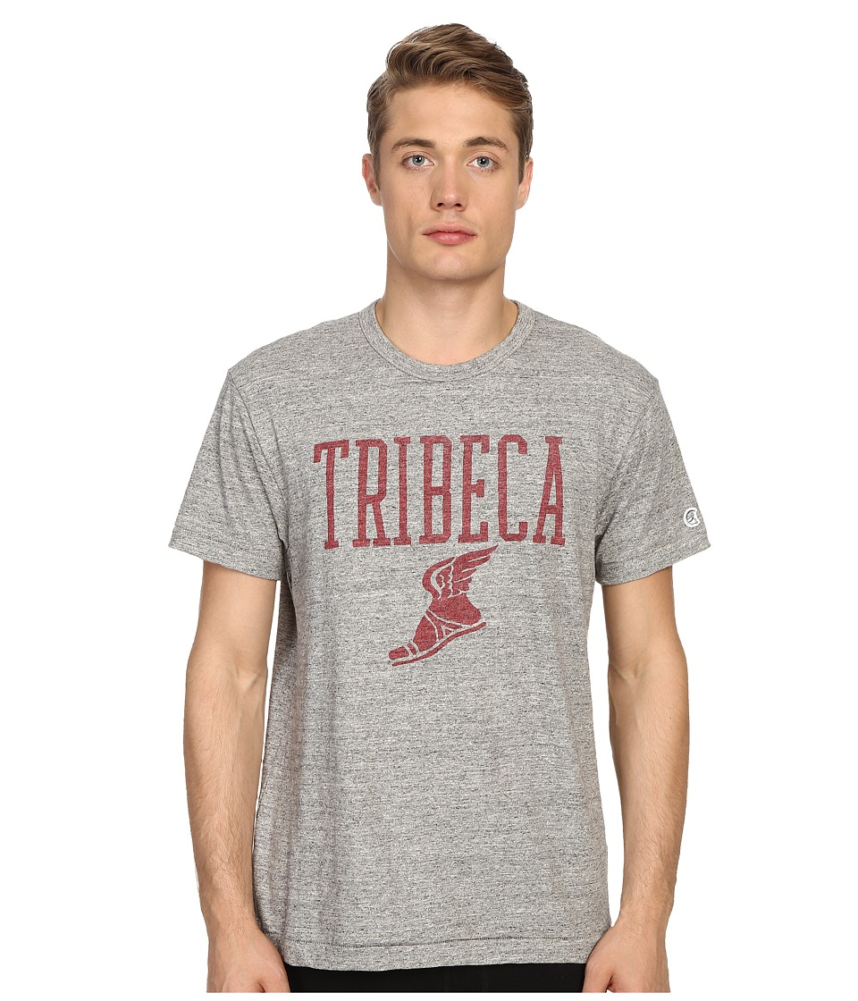Todd Snyder + Champion - Tribeca Graphic Tee (Antique Grey Mix) Men's T Shirt