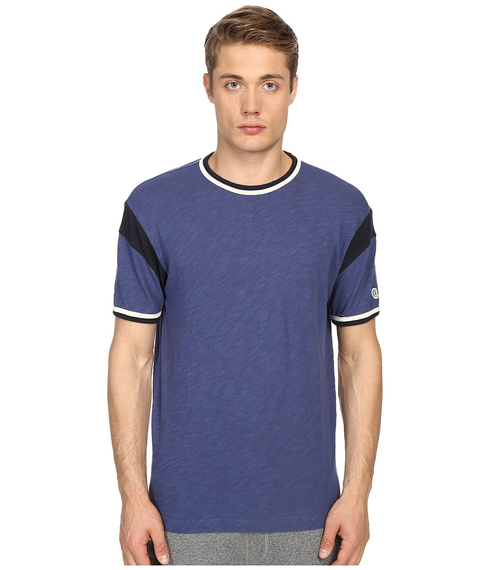 Todd Snyder + Champion - Short Sleeve Armhole Tee (Washed Royal) Men's T Shirt