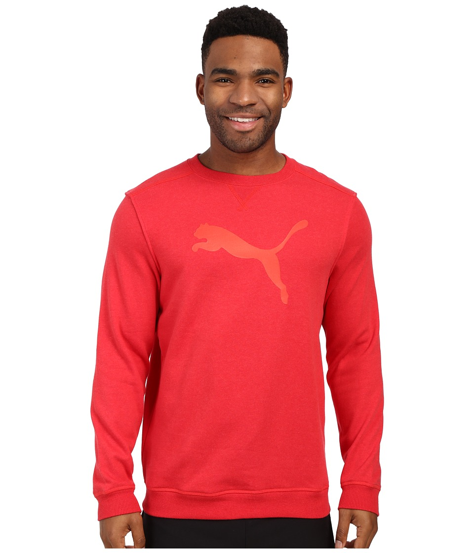 PUMA - Crew Sweat (High Risk Red Heather) Men's Sweatshirt