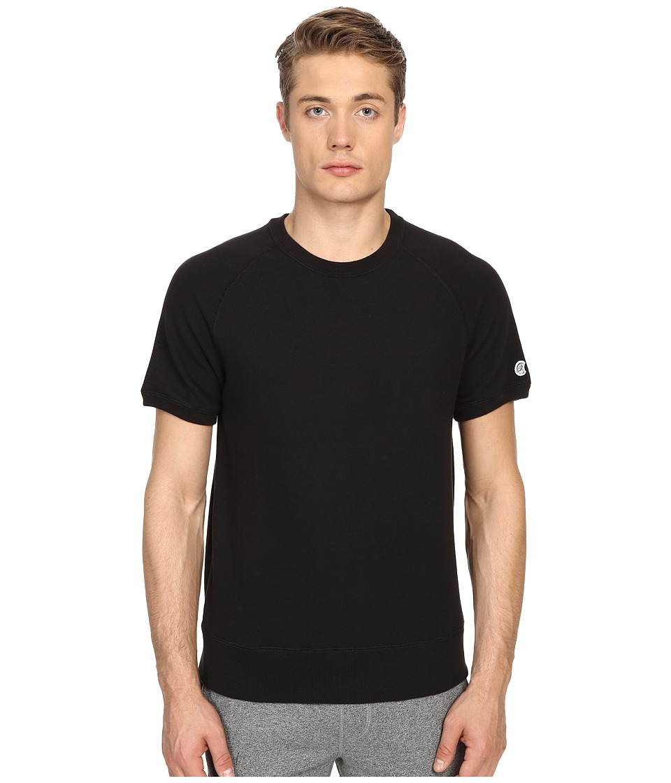 Todd Snyder + Champion - Short Sleeve Sweatshirt (Black) Men's Sweatshirt