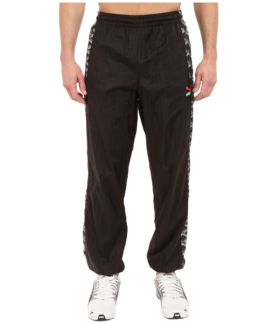 PUMA - ALife All Over Print Track Pants (Black) Men's Casual Pants