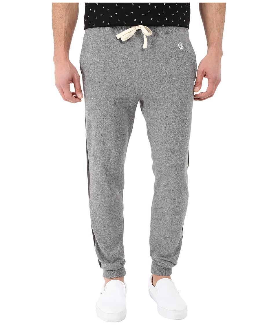 Todd Snyder + Champion - Faux Leather Side-Stripe Sweatpants (Salt/Pepper) Men's Casual Pants