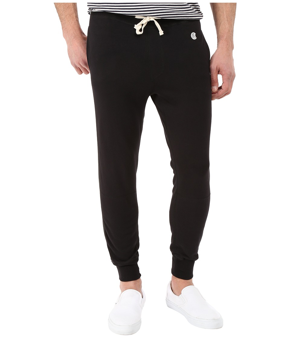Todd Snyder + Champion - Faux Leather Side-Stripe Sweatpants (Black) Men's Casual Pants