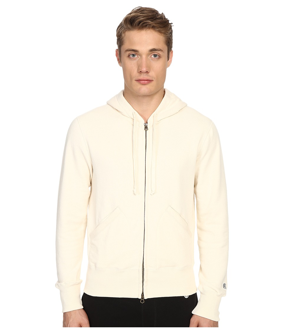 Todd Snyder + Champion - Full Zip Hoodie (Vintage White) Men's Sweatshirt