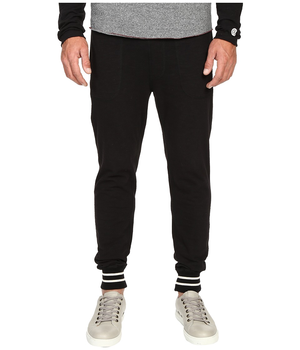 Todd Snyder + Champion - Tipped Jersey Pants (Black) Men's Casual Pants