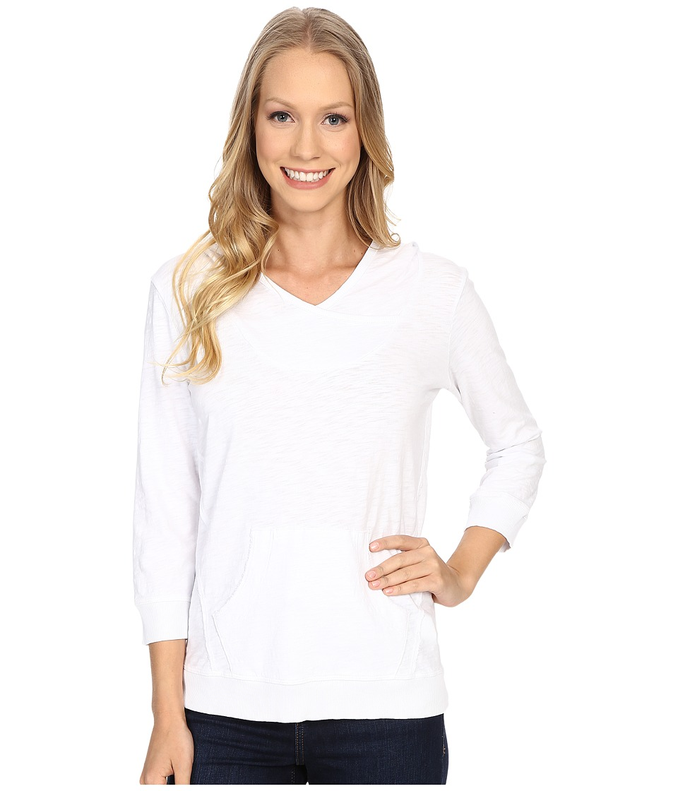 Mod-o-doc - Slub Jersey Pullover Hoodie (White) Women's Sweatshirt