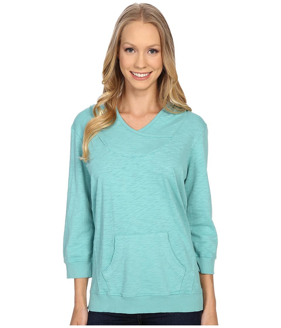 Mod-o-doc - Slub Jersey Pullover Hoodie (Aegean) Women's Sweatshirt