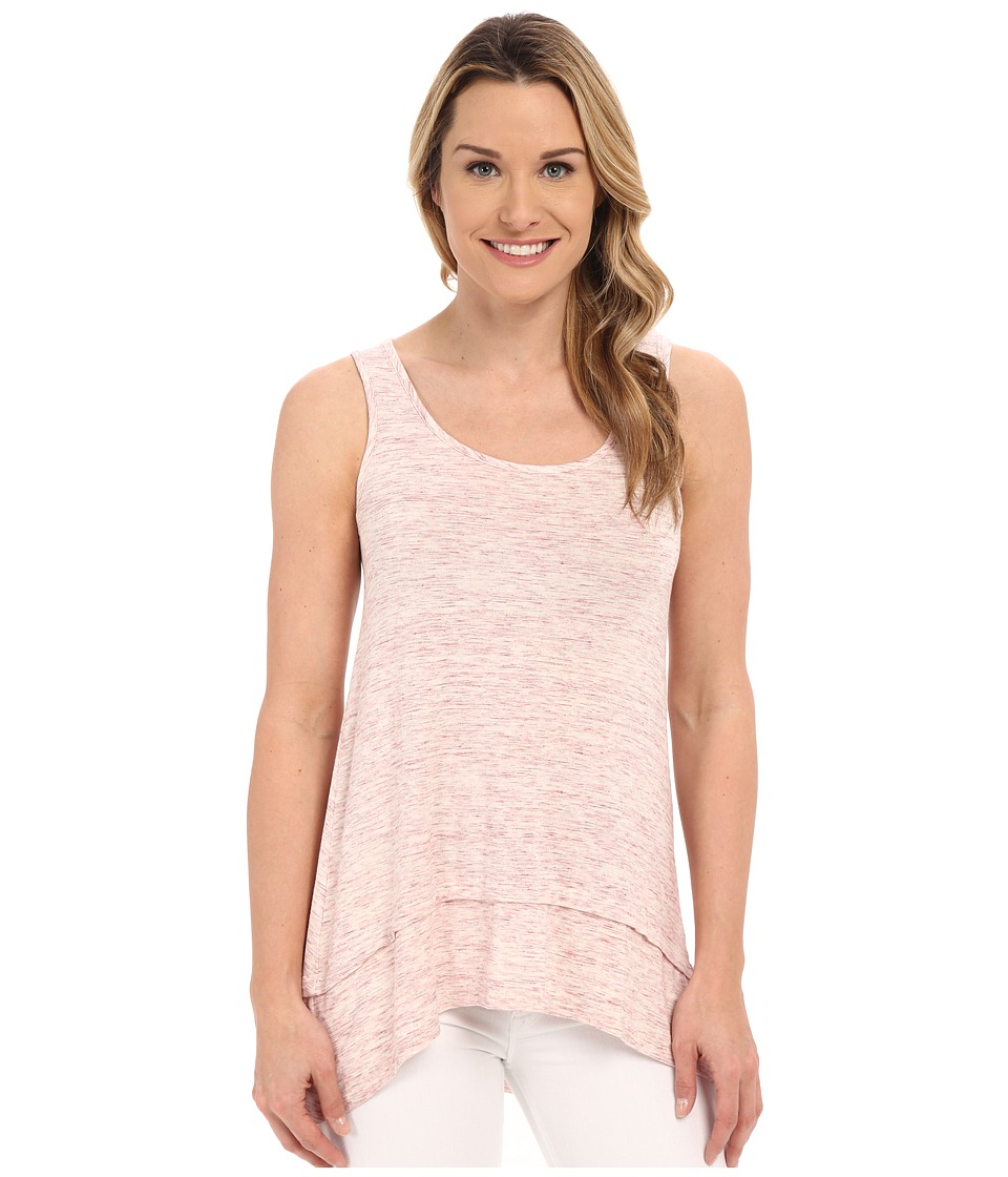 Mod-o-doc - Spaced Dyed Banded Tank Top (Gumdrop Heather) Women's Sleeveless