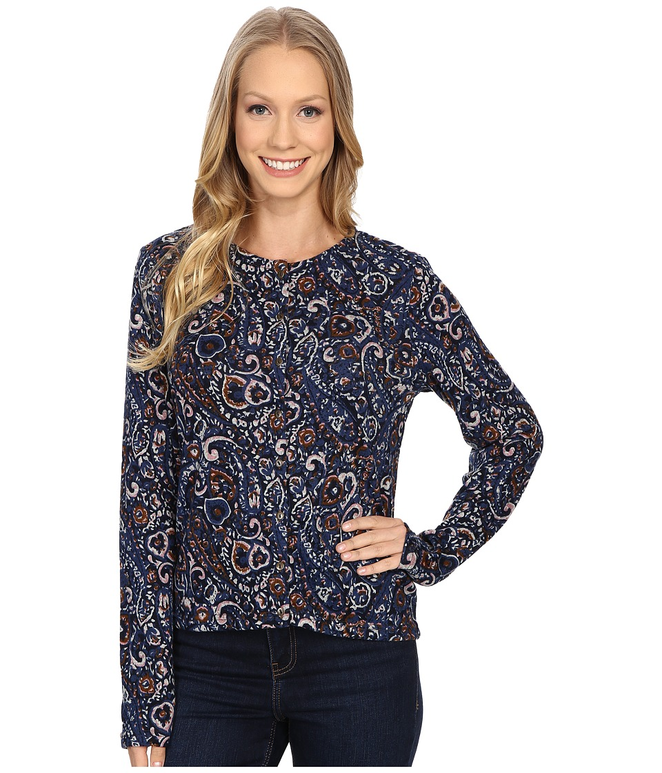 Mod-o-doc - Printed Sweater Button Up Cardigan (Paisley) Women's Sweater
