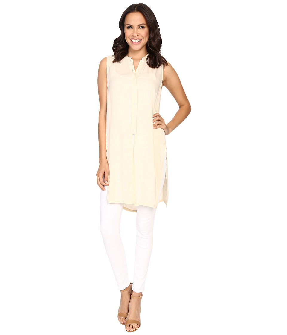B Collection by Bobeau - Tunic w/ Embroidered Detail (Eggshell) Women's Sleeveless