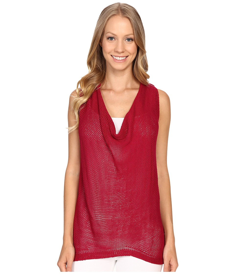 B Collection by Bobeau - Delaney Cowl Neck Knit Top (Berry) Women's Clothing