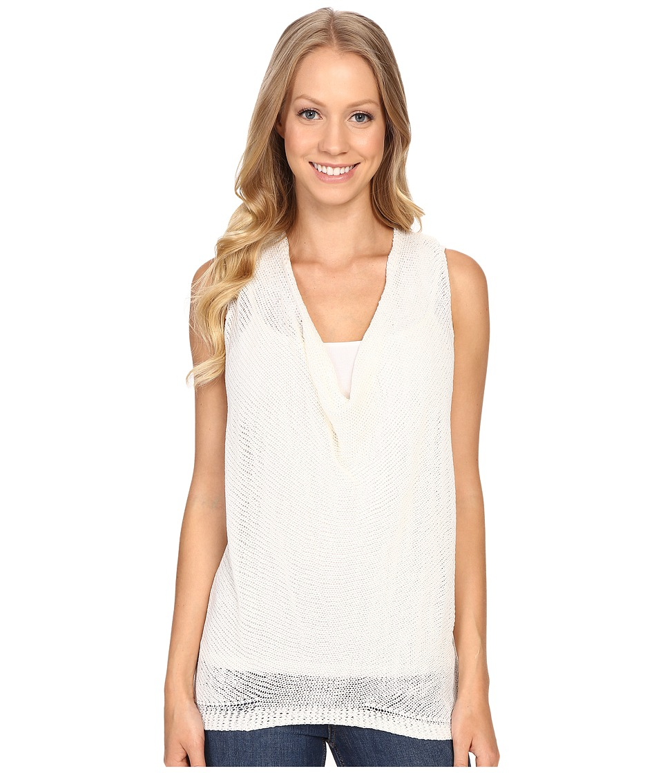 B Collection by Bobeau - Delaney Cowl Neck Knit Top (White) Women's Clothing