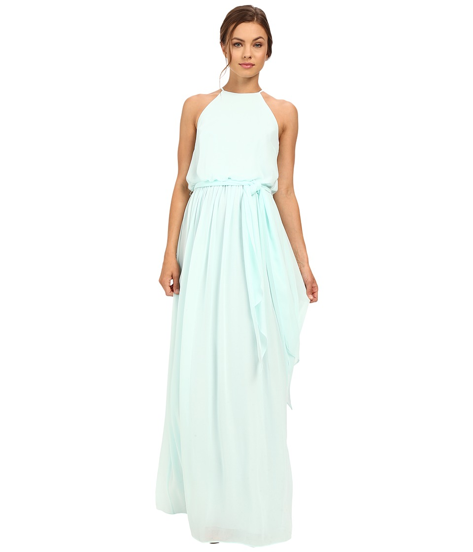 Donna Morgan - Alana Drape Blouson Gown (Beach Glass) Women's Dress