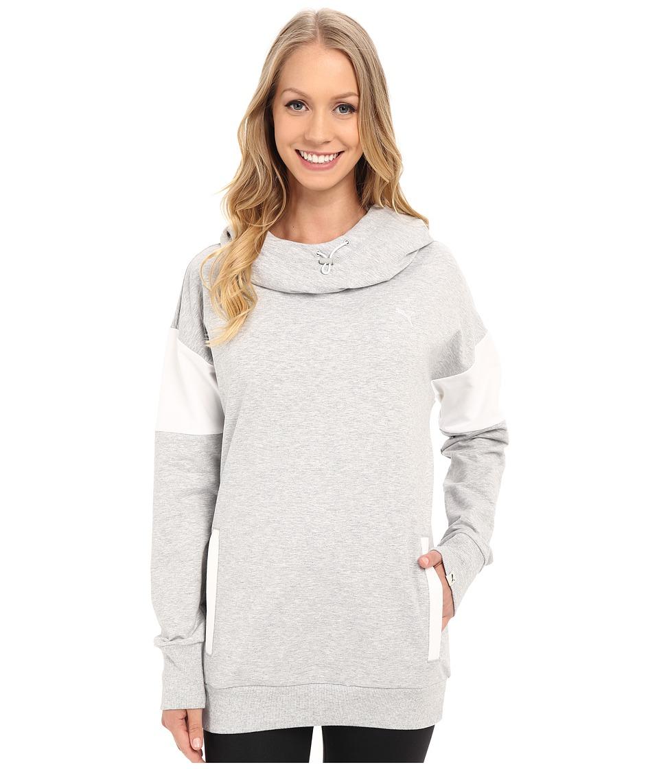 PUMA - Style Swagger Hoodie (Light Gray Heather) Women's Sweatshirt