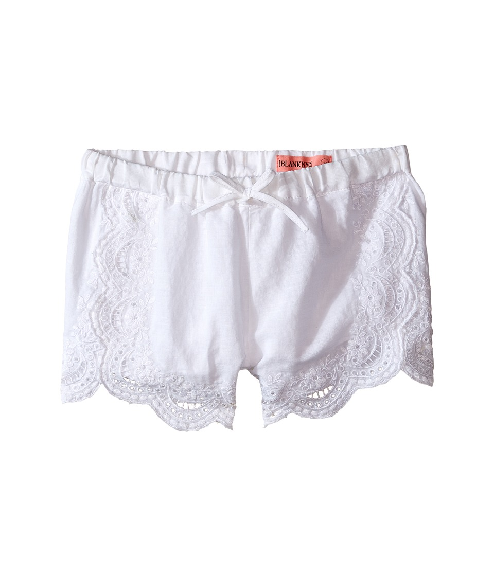 Blank NYC Kids - Eyelet Elastic Shorts in White (Big Kids) (White) Girl's Shorts