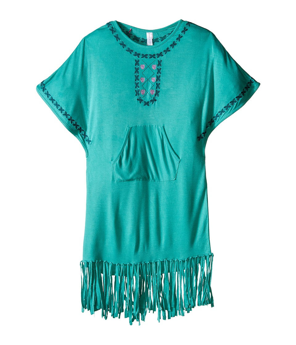 Bowie X James - Gypset Poncho Top (Toddler/Little Kids/Big Kids) (Seafoam) Girl's Clothing