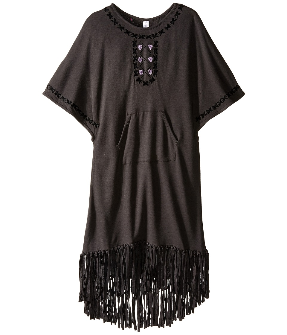 Bowie X James - Gypset Poncho Top (Toddler/Little Kids/Big Kids) (Charcoal) Girl's Clothing