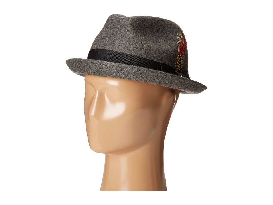 Brixton - Gain Fedora (Heather Grey) Fedora Hats
