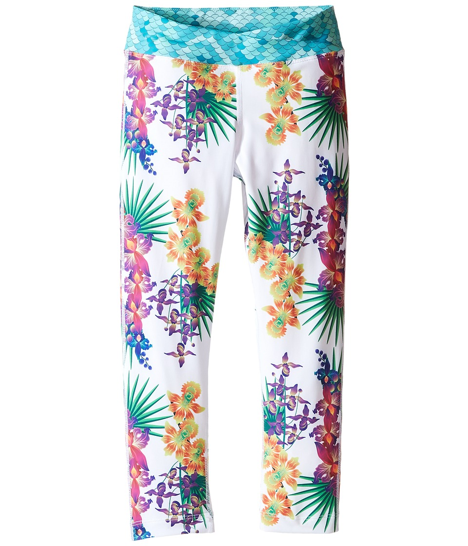 Bowie X James - Surf's Up Swim Leggings (Toddler/Little Kids/Big Kids) (White) Girl's Swimwear