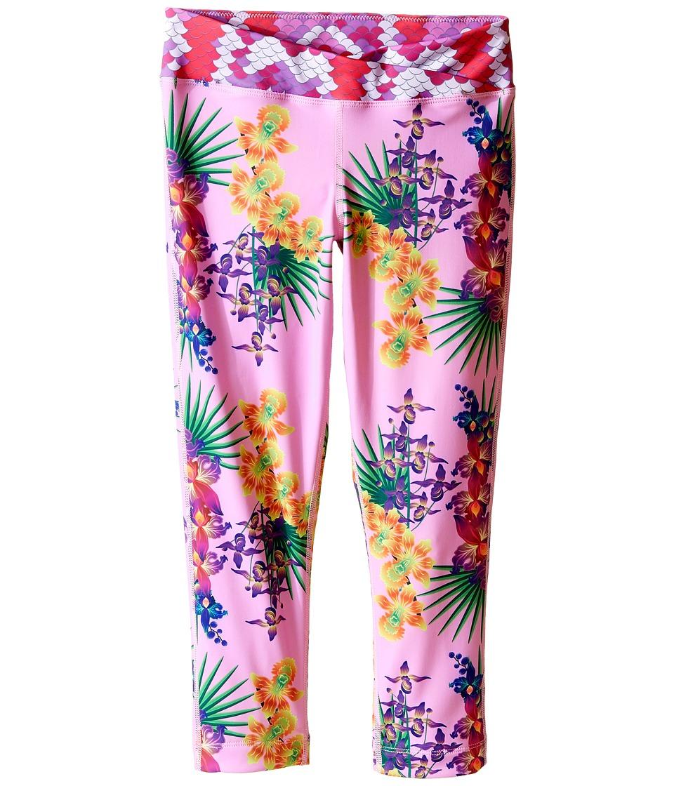 Bowie X James - Surf's Up Swim Leggings (Toddler/Little Kids/Big Kids) (Pink) Girl's Swimwear