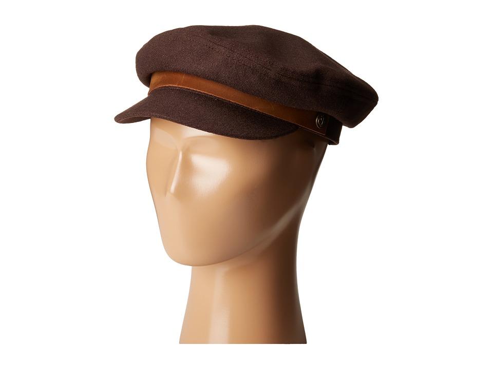 Brixton - Fiddler Cap (Dark Brown) Caps