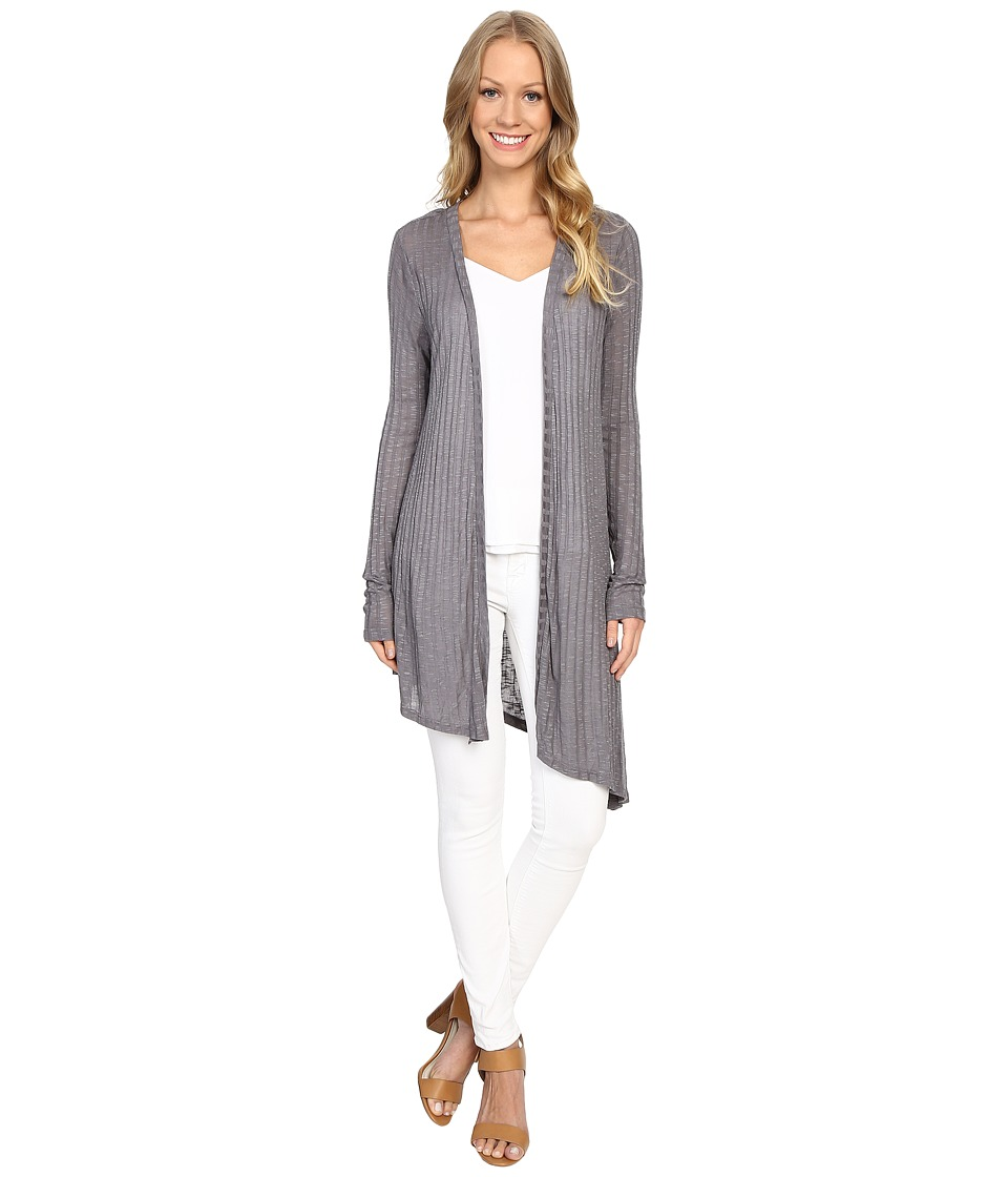B Collection by Bobeau - Knox Asymmetric Duster Cardigan (Grey) Women's Sweater