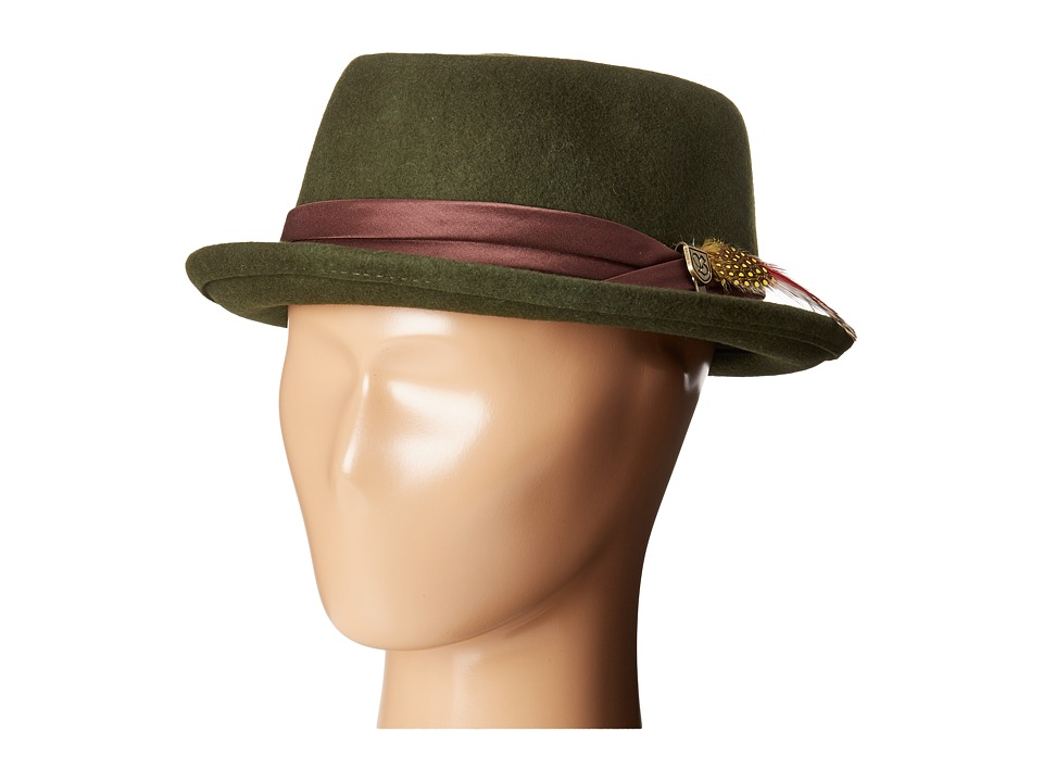 Brixton - Stout Pork Pie Hat (Moss) Traditional Hats