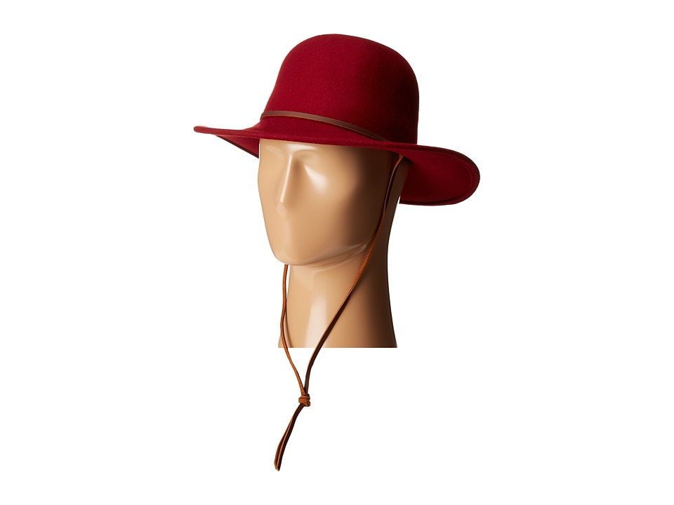 Brixton - Tiller (Burgundy) Traditional Hats