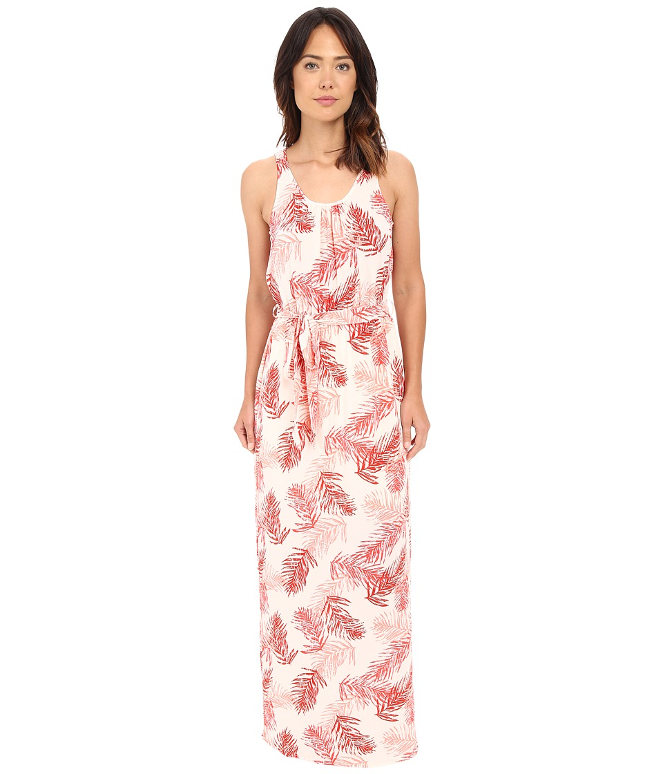 B Collection by Bobeau - Camellia Palm Print Maxi Dress (Coral) Women's Dress