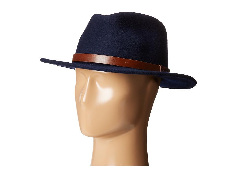 Brixton - Messer Fedora (Navy) Fedora Hats