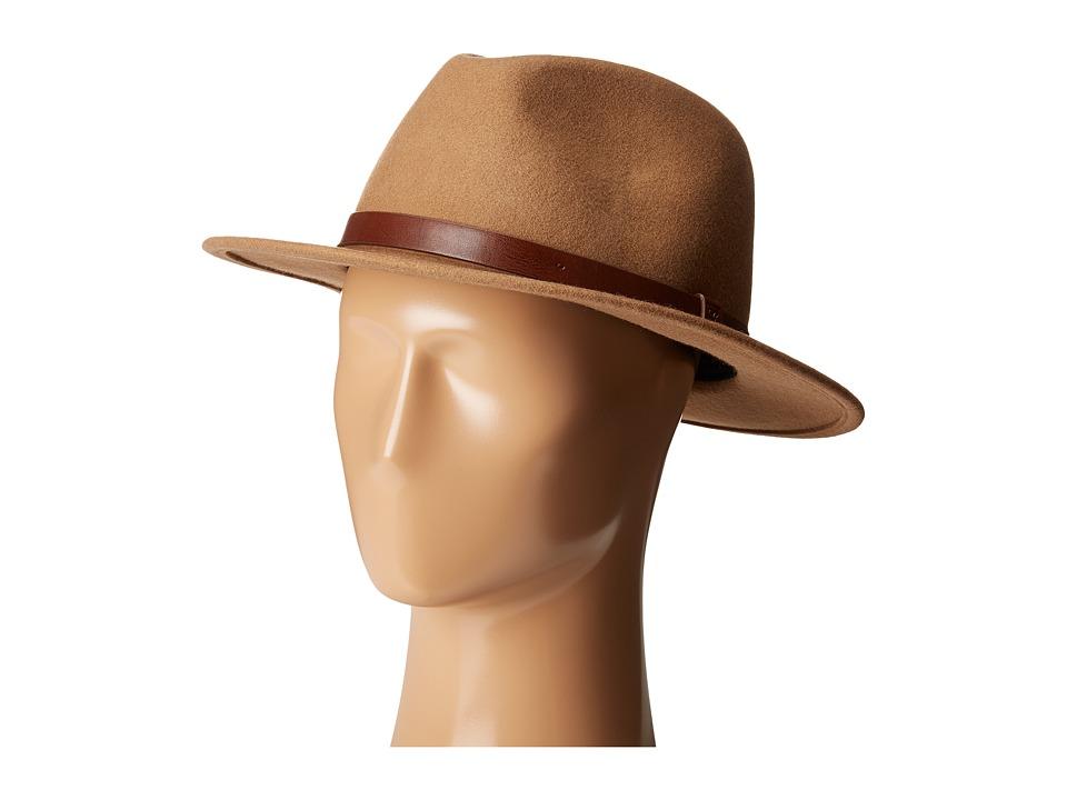 Brixton - Messer Fedora (Tan) Fedora Hats