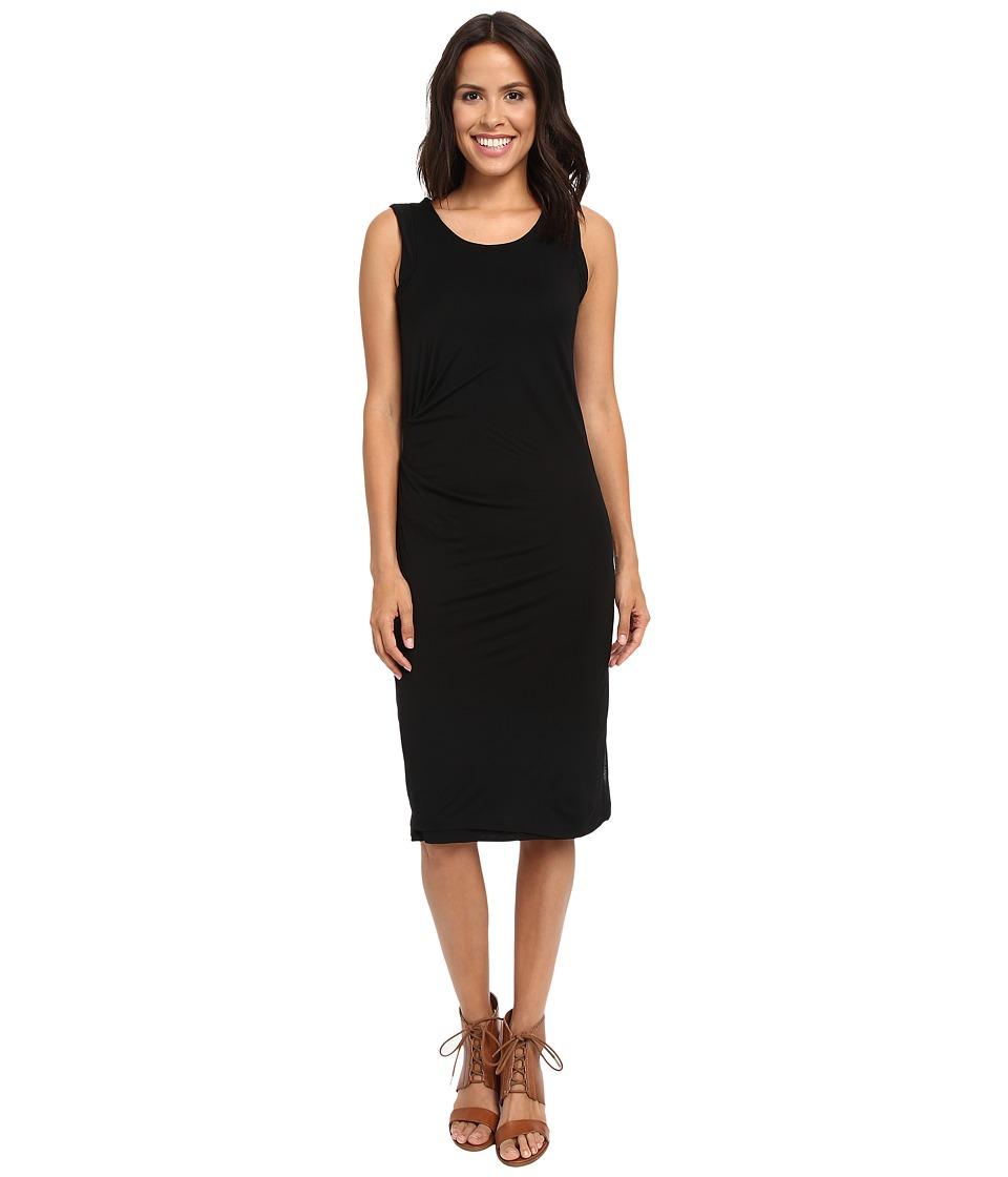 B Collection by Bobeau Julia Side Drape Knit Dress (Black) Women