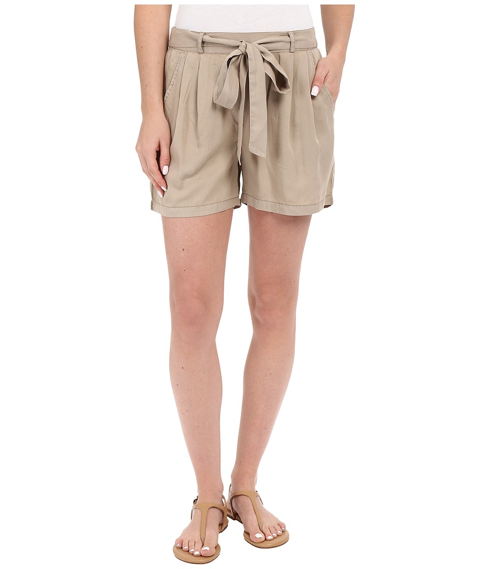 B Collection by Bobeau - Bianca Self Belt Shorts (Taupe) Women's Shorts