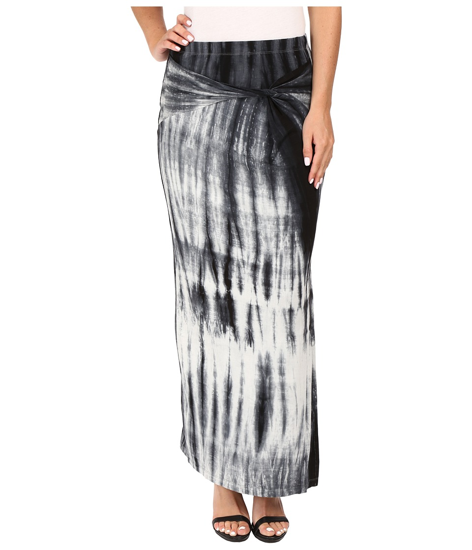 B Collection by Bobeau - Claudia Front Slit Midi Knit Skirt (Tie-Dye) Women's Skirt