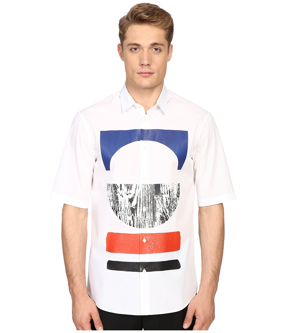 McQ - Short Sleeve Sheehan (Optic White) Men's Short Sleeve Button Up