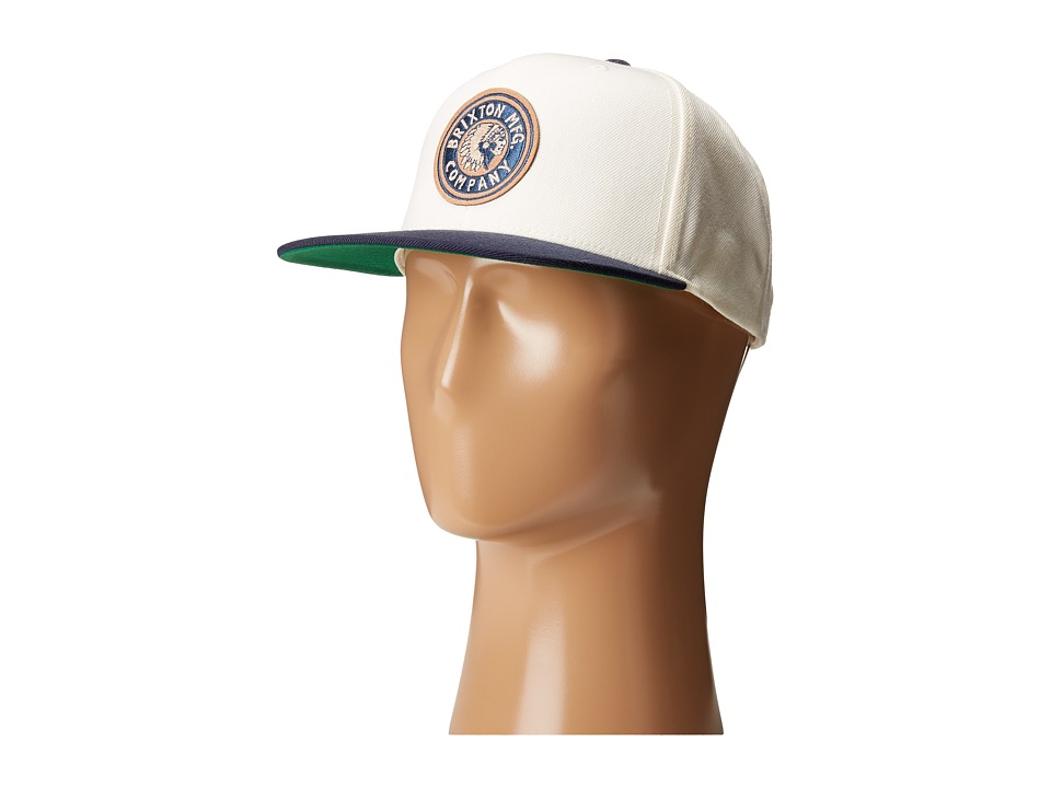 Brixton - Rival Snapback (Off-White/Navy) Baseball Caps