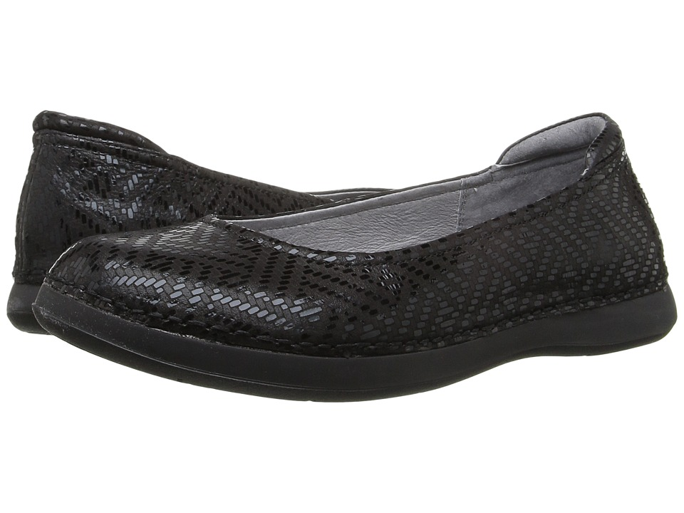 Alegria - Petal (Black Dazzler) Women's Flat Shoes