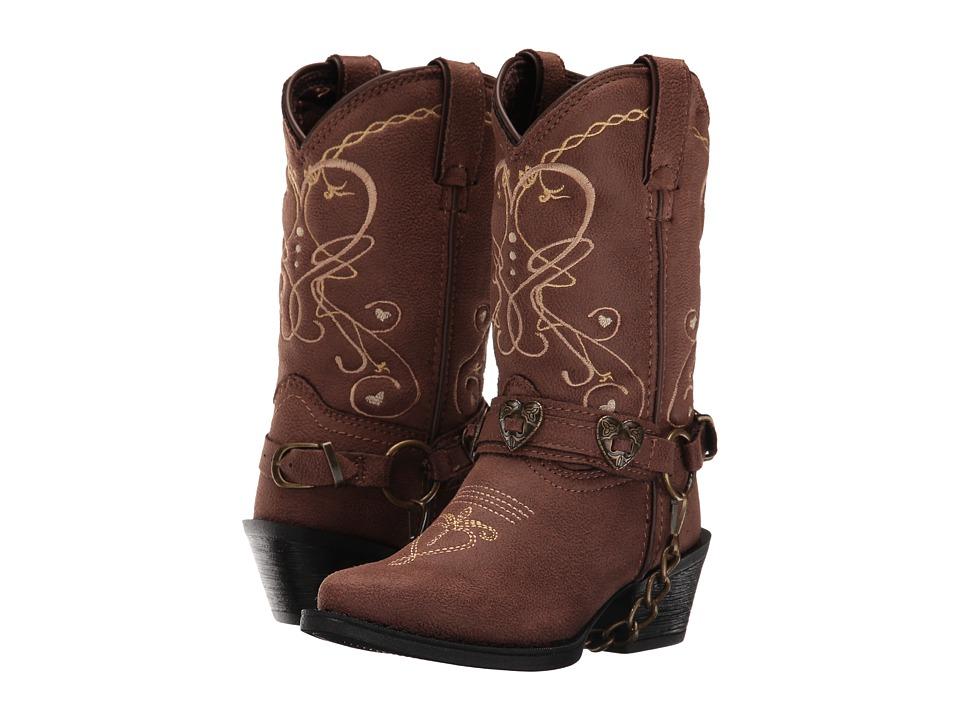 Durango Kids - 8 Heartfelt Lil' Crush (Toddler/Little Kid) (Brown) Cowboy Boots