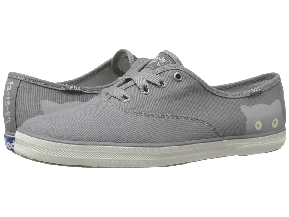Keds - Taylor Swift Champion Sneaky Cat (Grey) Women's Shoes