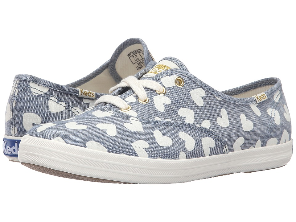 Keds - Champion Heart (Blue Chambray) Women