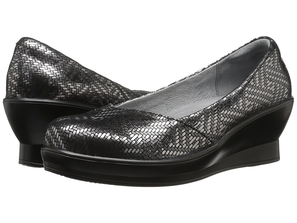 Alegria - Flirt (Pewter Dazzler) Women's Wedge Shoes