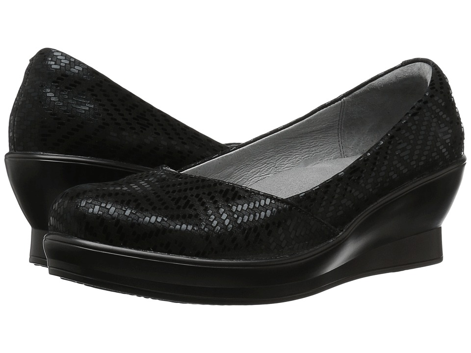 Alegria - Flirt (Black Dazzler) Women's Wedge Shoes