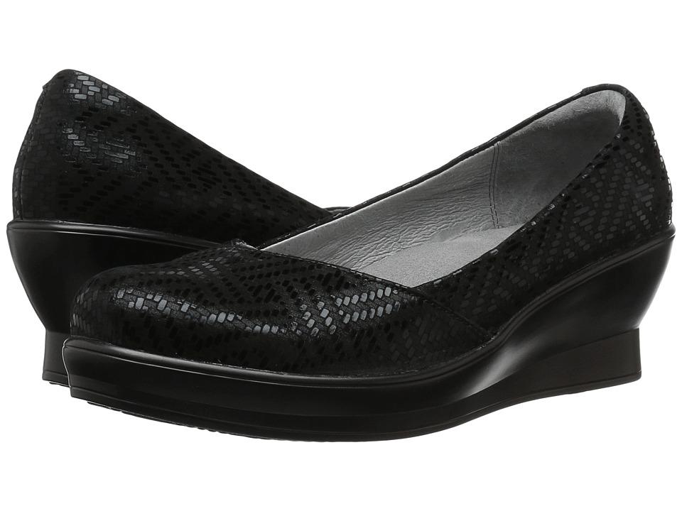 Alegria - Flirt (Black Dazzler) Women's Wedge Shoes