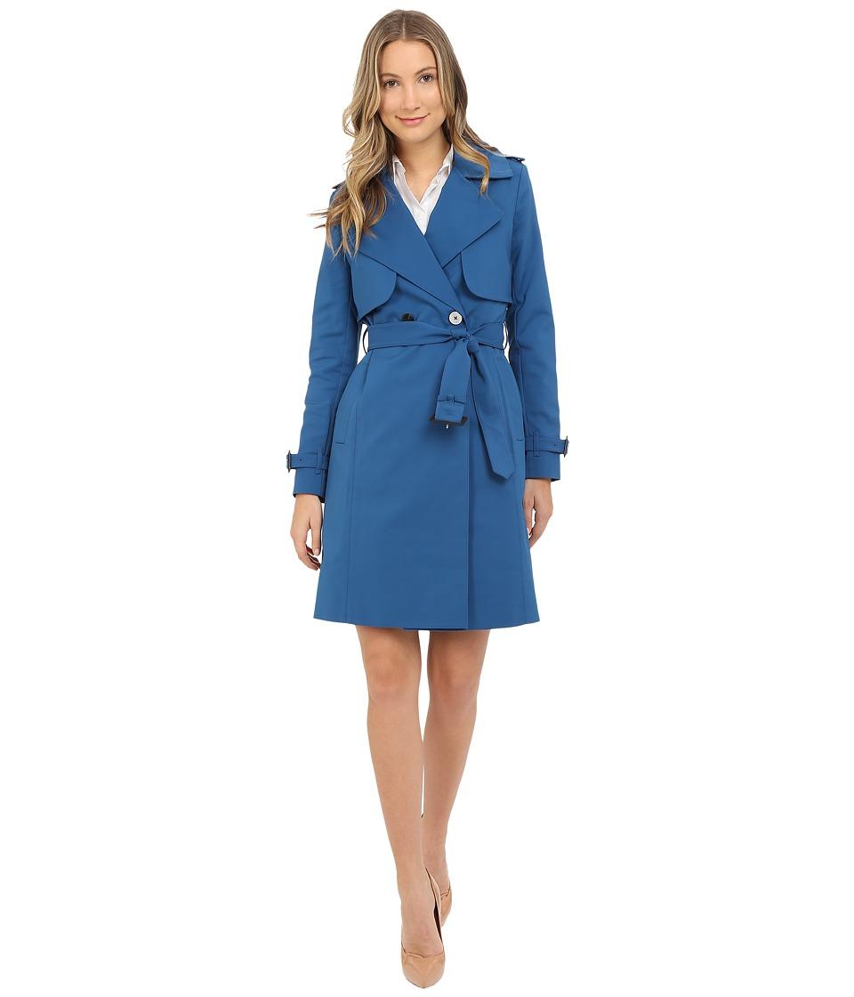 Diane von Furstenberg - Christie (Ocean Blue) Women's Coat